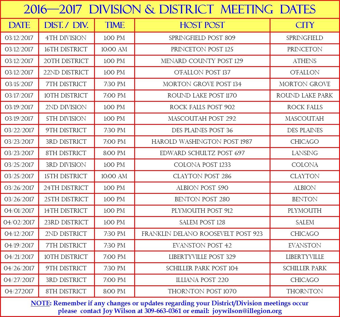 Dist-Div meetings (mar)